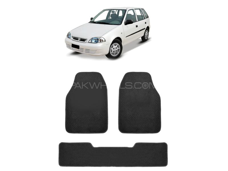 Kenco Carpet Floor Mats For Suzuki Cultus 2002-2012 Black Image-1