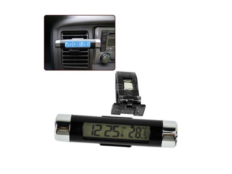 Digital Multi Display Ac Vent Mount Clock Image-1