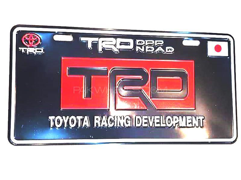 Universal Metal License Plate TRD - Black  in Karachi
