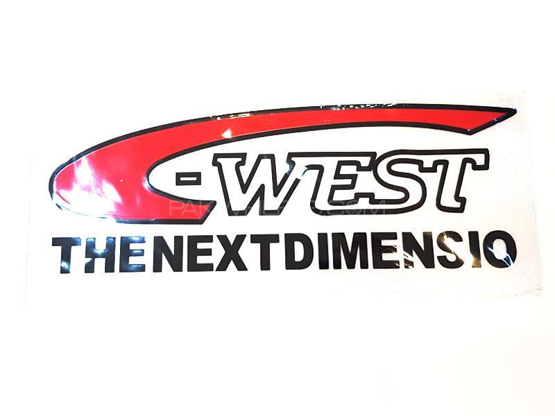 West Dimensio Sticker - Red Image-1