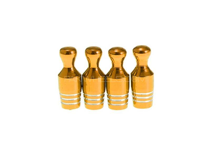 Bowling Shape Tire Nozzle Cap Golden in Lahore