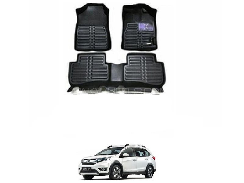 Honda BR-V Custom 2017-2018 5D Floor Matt - Black  Image-1
