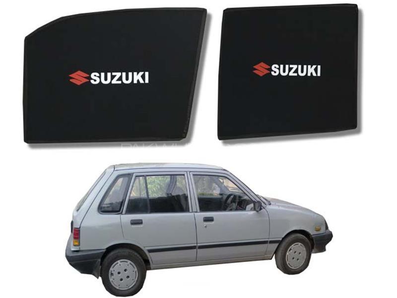 Foldable & Flexible Fix Shades With Logo For Suzuki Khyber 1989-1999 - 4 Pcs Image-1