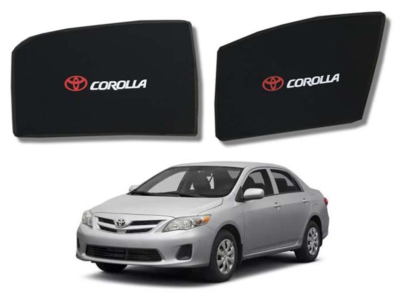 Foldable & Flexible Fix Shades With Logo For Toyota Corolla 2009-2013 - 4 Pcs Image-1