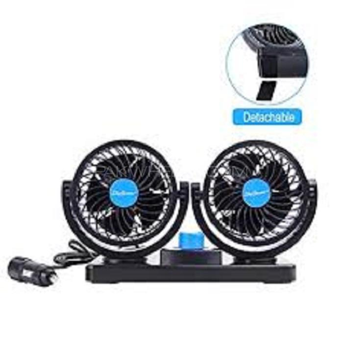 Dual Head Car Fan Image-1