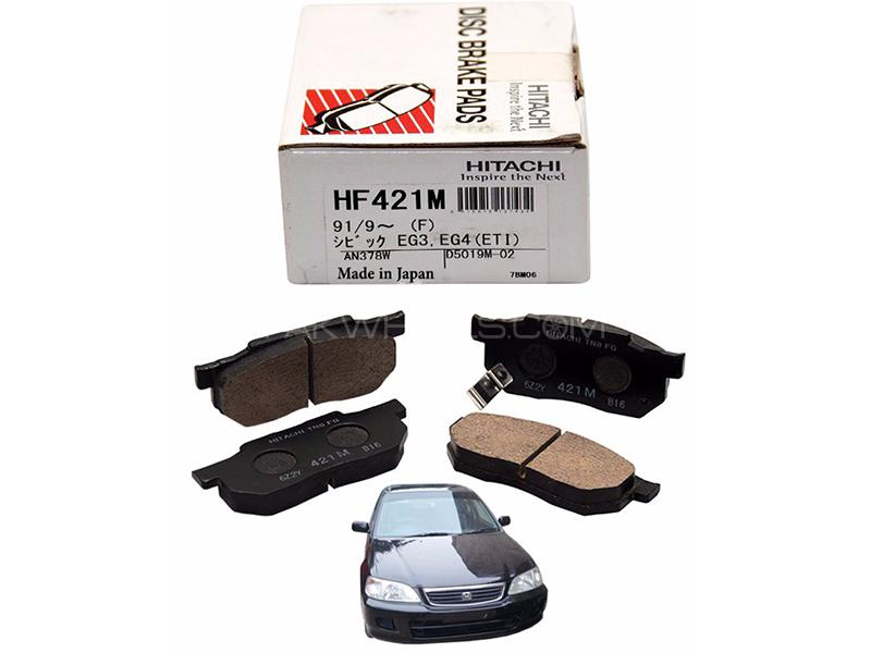 Hitachi Front Brake Pad For Honda City 1998-2001 - HF421M Image-1