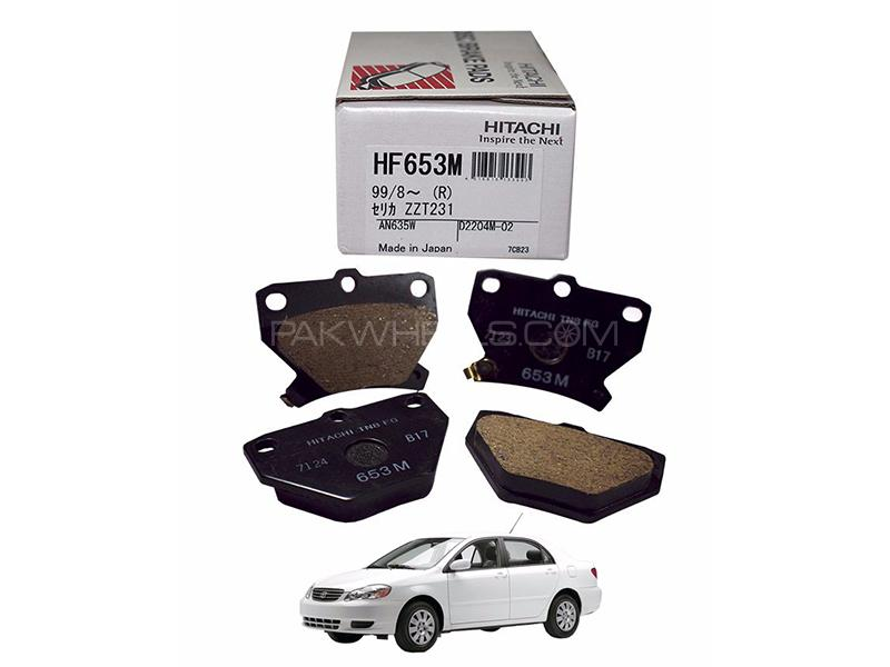Hitachi Rear Brake Pad For Toyota Corolla 2002-2008 - HF653M Image-1