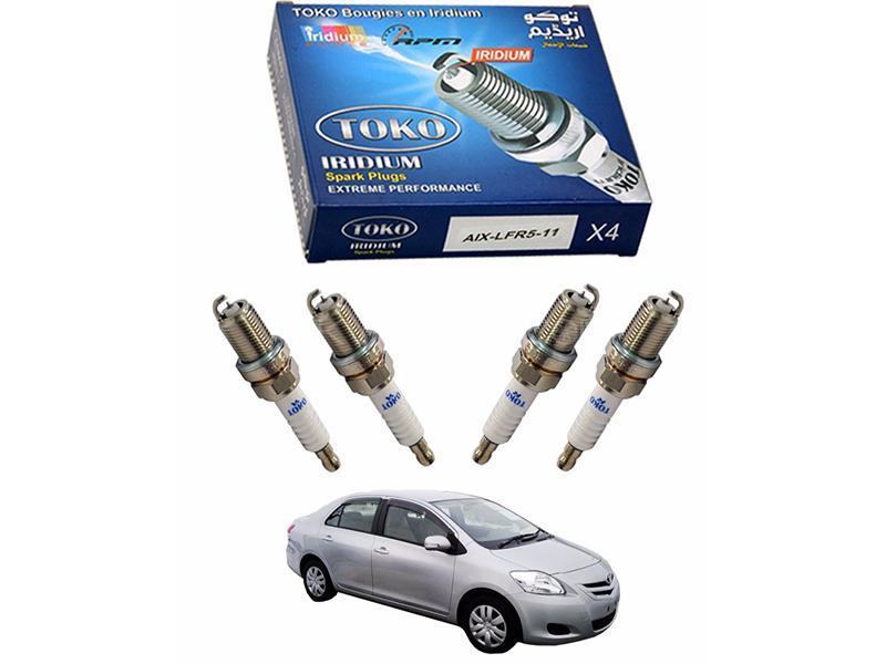 Iridium High Performance Spark Plugs For Toyota Belta 4pcs in Lahore