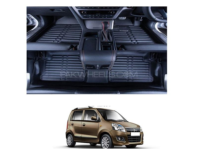 5D Floor Mat For Suzuki Wagon R 2014-2019 - Black in Karachi