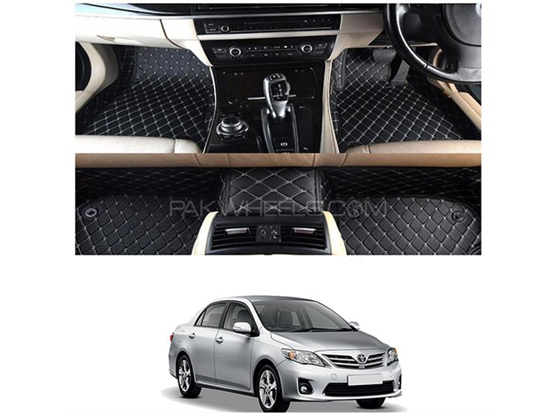 7D Floor Mat For Toyota Corolla 2009-2013 - Black Image-1