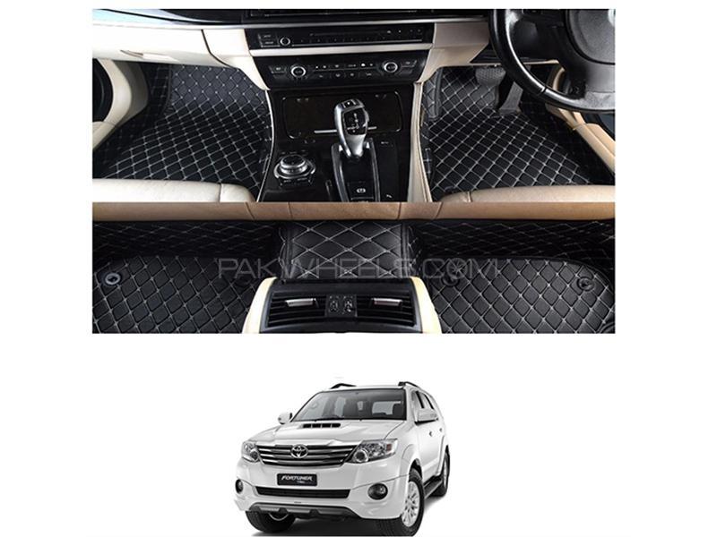 7D Floor Mat For Toyota Fortuner 2013-2016 - Black  Image-1