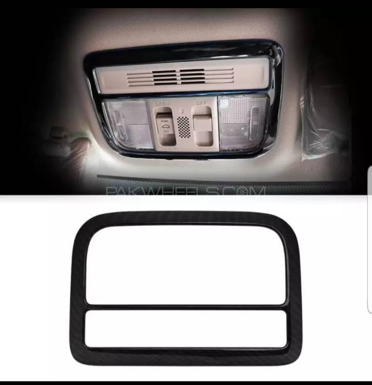 Honda Civic 2016-19 Reading Light Carbon Fiber Trim Image-1