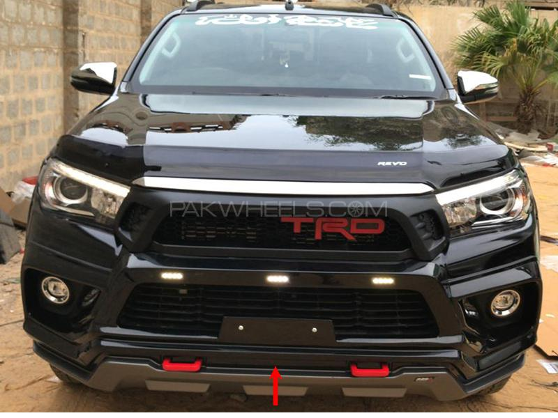 RBS Front Bumper Extension For Toyota Revo 2016-2019 - Black  in Karachi