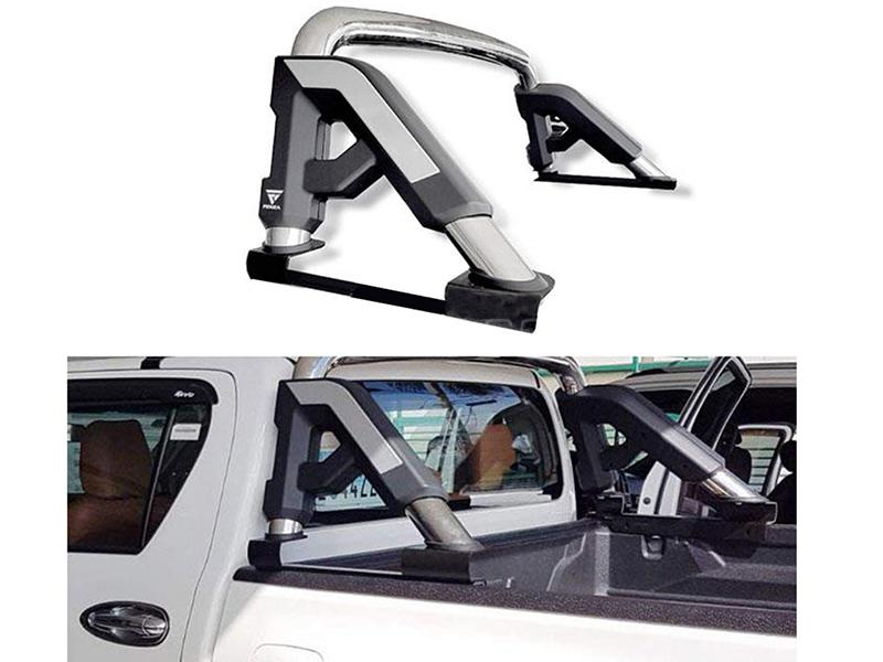 Roll Bar For Toyota Revo 2016-2019 - Black And Silver Image-1
