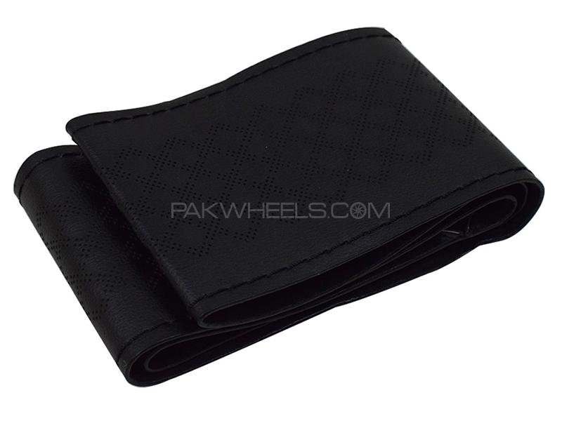 Stitching Steering Cover - Black  in Karachi