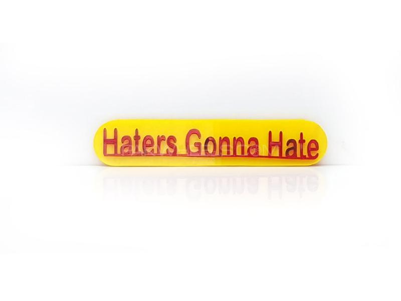 Haters Plastic Pvc Emblem Image-1