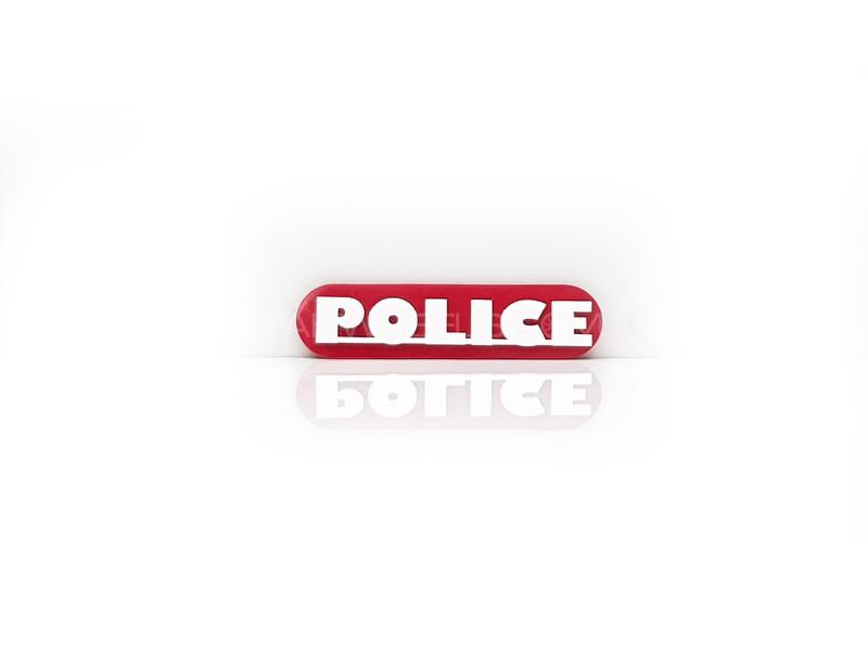 Police Plastic Pvc Emblem Image-1