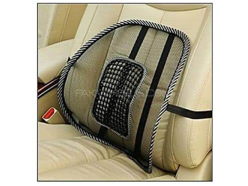 Universal Air Vent Back Care Seat - Black  Image-1