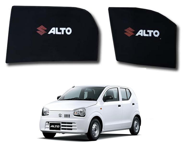 Foldable & Flexible Fix Shades With Logo For Suzuki Alto 2019 - 4 Pcs Image-1