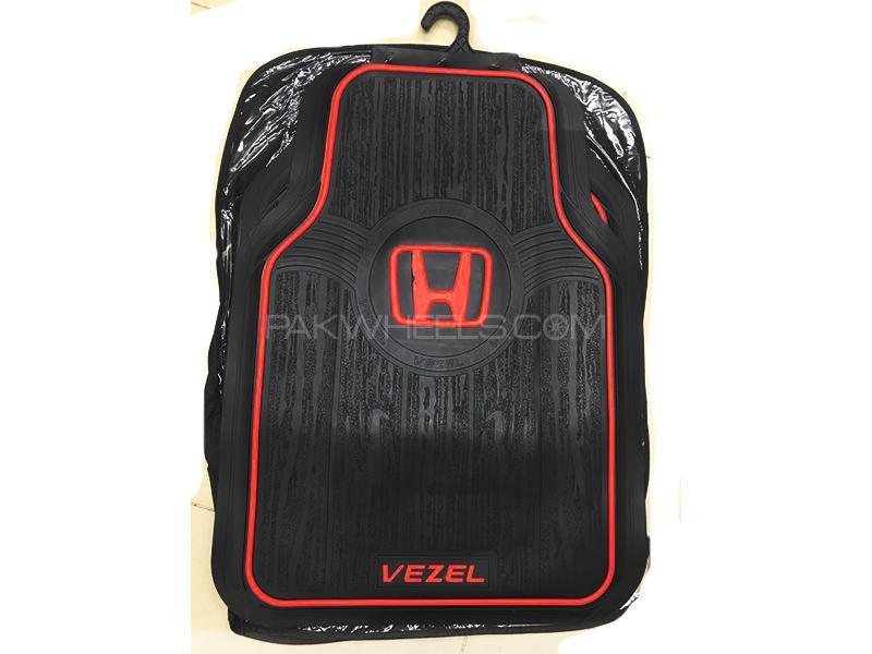 Rubber Floor Mat Red & Black For Honda Vezel in Karachi