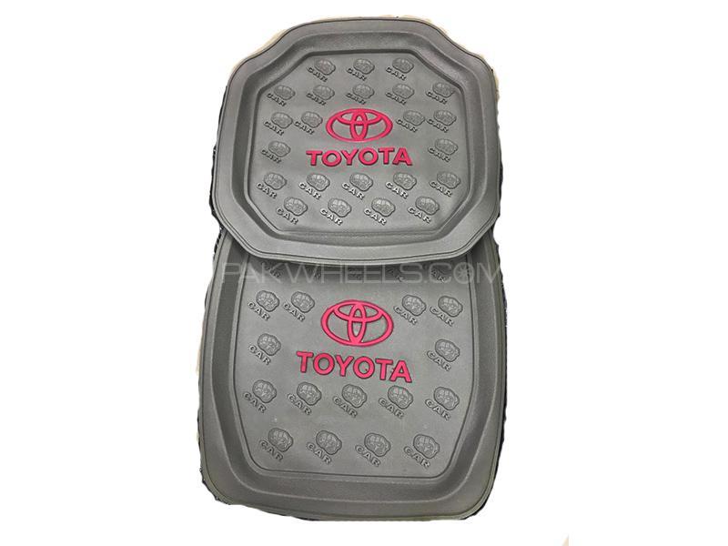 Universal Rubber Floor Mat Grey - Toyota  Image-1
