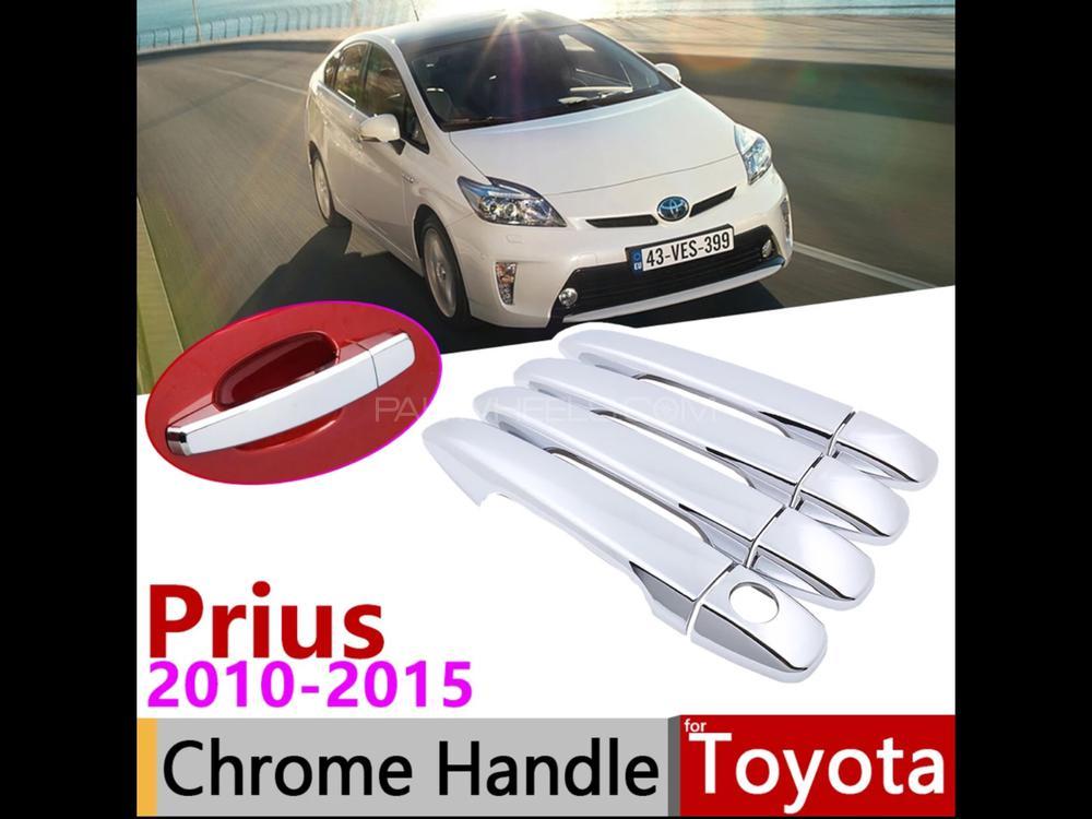 Toyota Prius 2010 to 2015 model 1800cc chrome door handle co Image-1