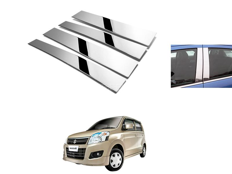 Suzuki Wagon R Door Pillar Chrome 4pcs 2014-2019 in Lahore
