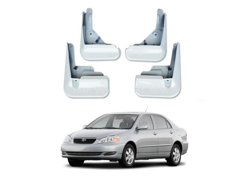Toyota Corolla Mud Flap White Set 4pcs 2002-2008 in Lahore