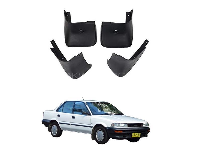 Toyota Corolla Mud Flap Set 4pcs 1988-1990 Image-1