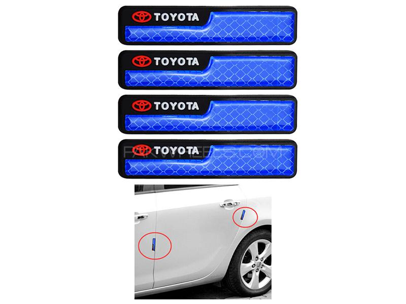 Universal Door Guard With Reflector Toyota - Blue Image-1