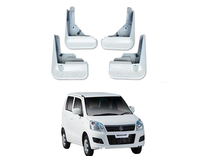 Mud Flaps For Suzuki Wagon R 2014-2019 4pc White Image-1