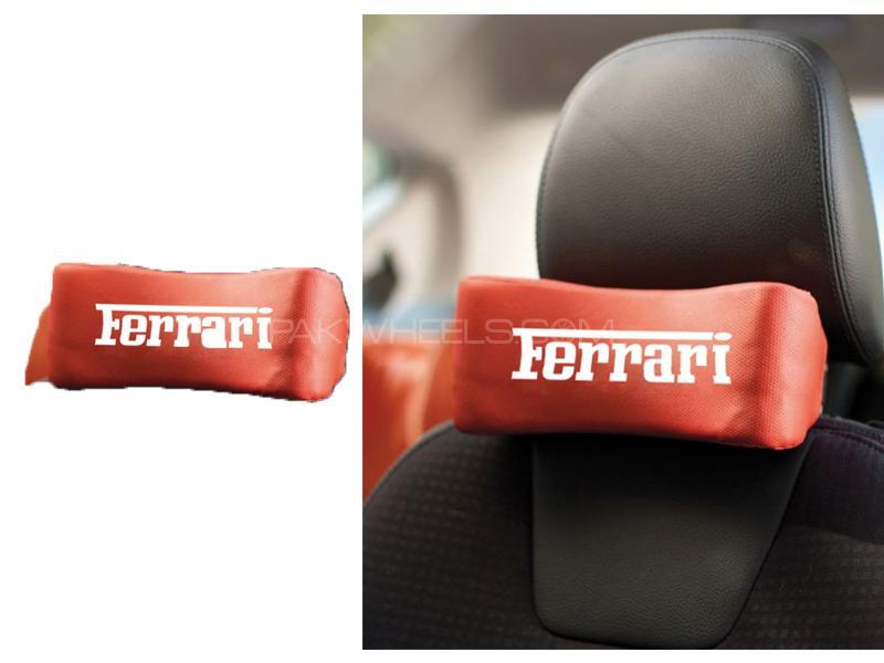 Seat Neck Pillow Cushion Ferrari  Image-1