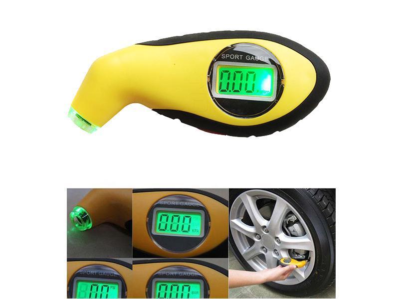 Car Tire Digital Measure Monitor Valve Gauge Yellow in Lahore