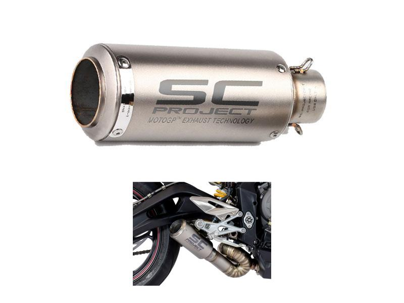 SC Project Curve Universal Exhaust Silver Image-1