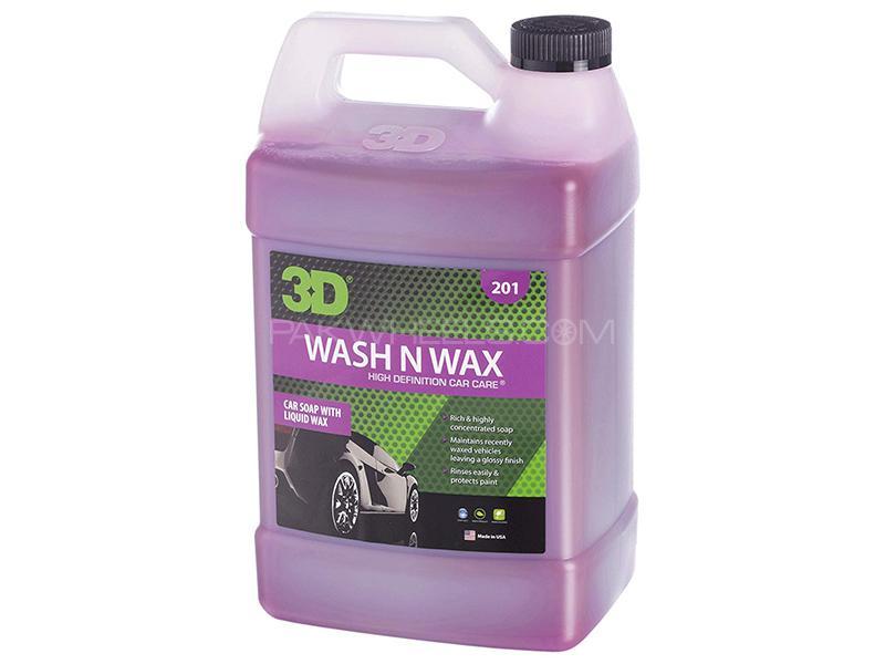 3D Wash N Wax Shampoo - 1 Gallon Image-1