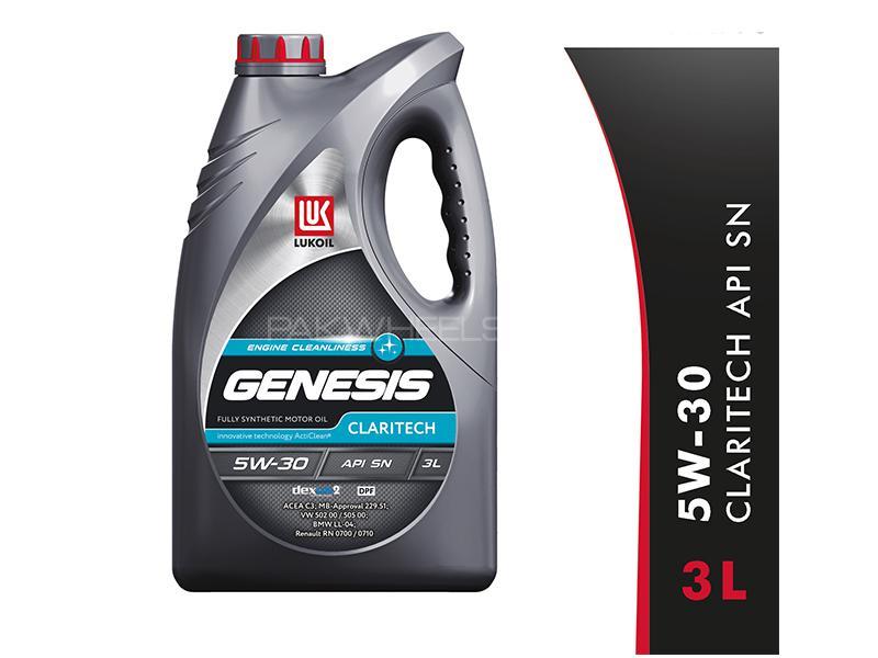 Lukoil Genesis Claritech 5W-30, API SN Car Gasoline Petrol Engine Motor Oil Lubricant Synthetic 3L Image-1