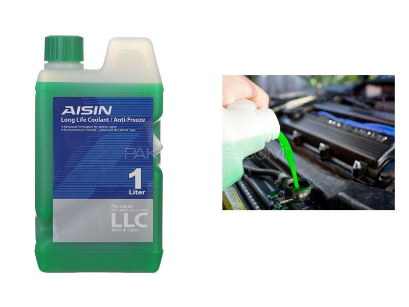 Aisin PreMixed Radiator Anti Rust Anti Freeze Coolant Green 1L Image-1