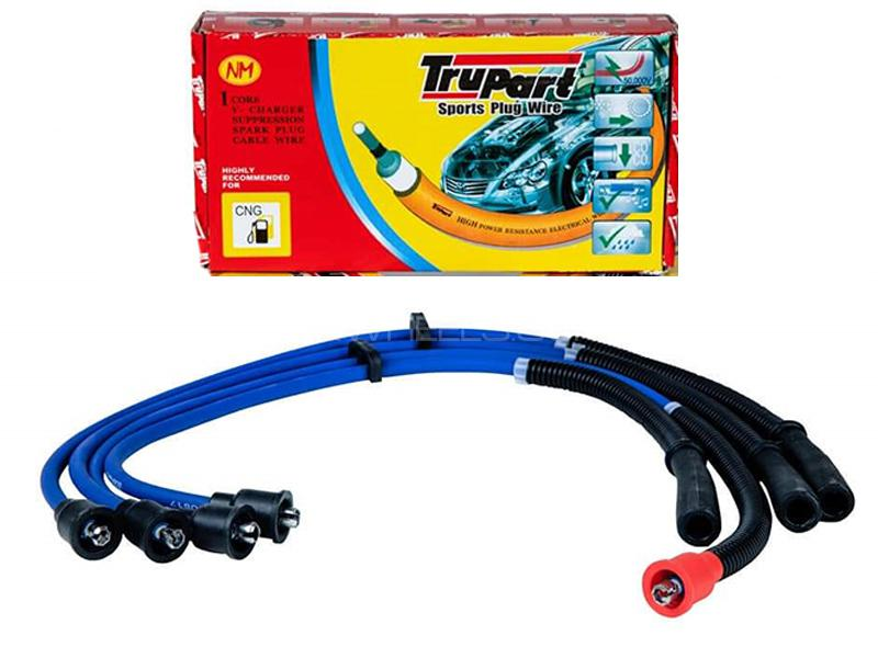Trupart Sports Plug Wire For Mitsubishi Lancer 2004-2008 - PW-319 8MM in Karachi