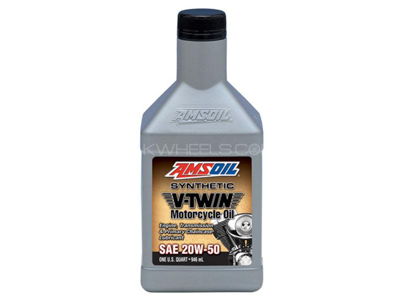 AMSOIL MotorCycle SL 20W-50 Harley Davidson Synthetic V-Twin Oil - 946ml Image-1