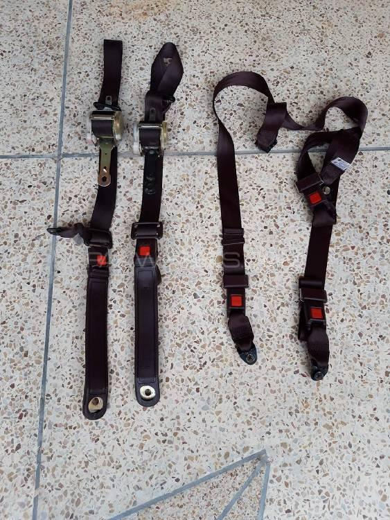 Toyota Corolla AE90 1990 Mahroon Front Rear Seat Belts Forsa Image-1