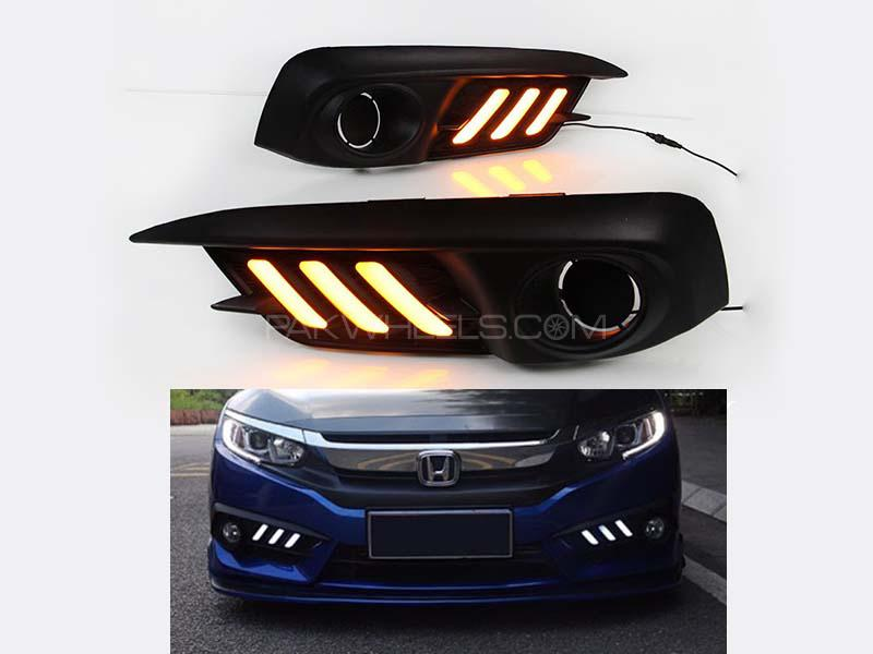 New Honda Civic Mustang DRL Cover 2016-2020 in Lahore
