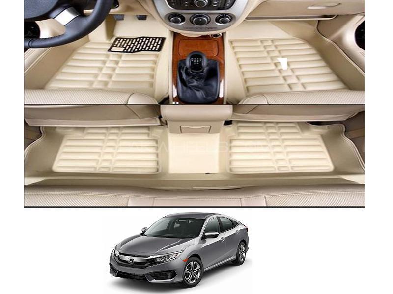 5D Floor Mat For Honda Civic 2016-2020 - Beige in Karachi