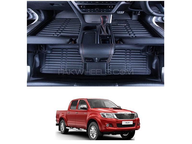 5D Floor Mat For Toyota Vigo 2010-2015 - Black Image-1