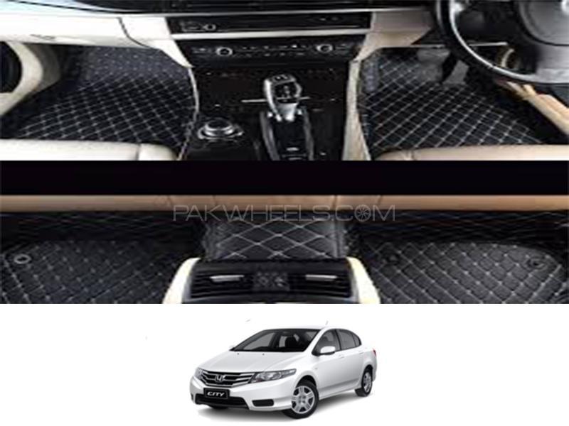 7D Floor Mat For Honda City 2009-2020 - Black Image-1