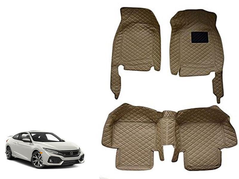 7D Floor Mat For Honda Civic 2016-2020 - Beige in Karachi