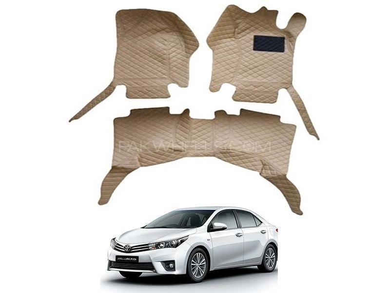 7D Floor Mat For Toyota Corolla 2014-2020 - Beige Image-1