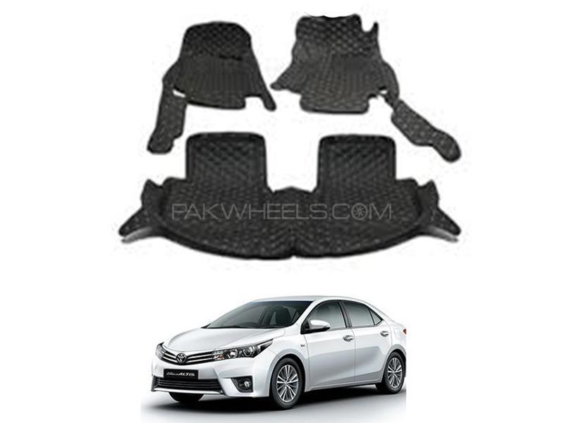 7D Floor Mat For Toyota Corolla 2014-2020 - Black Image-1
