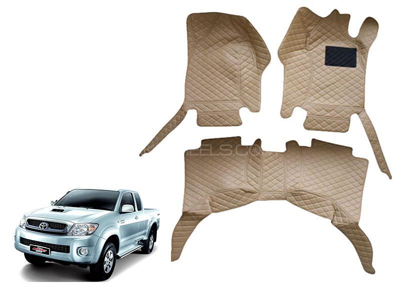 7D Floor Mat For Toyota Vigo 2010-2015 - Beige in Karachi