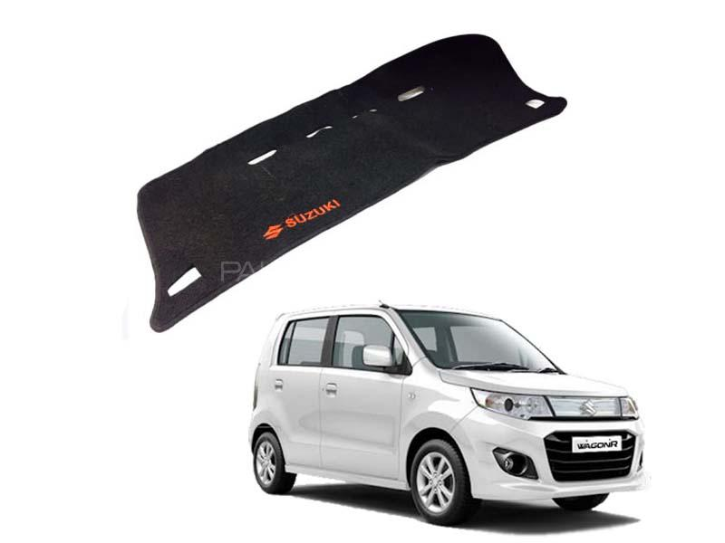 Suzuki Wagon R Dashboard Mat Black and Red - 2014-2020 in Lahore