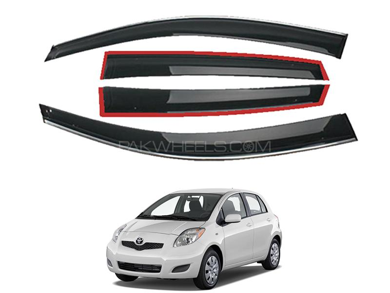 Toyota Vitz 2005-2010 Sun Visor Air Press - Black  Image-1